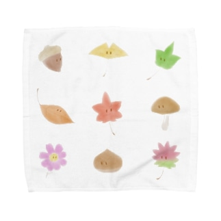 もみじくんといちょうちゃん Towel handkerchiefs