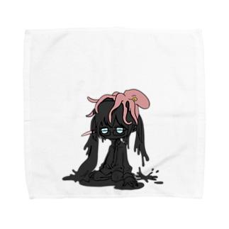 タコ墨ちゃん Towel handkerchiefs