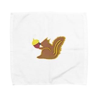 リスさんとどんぐり Towel handkerchiefs