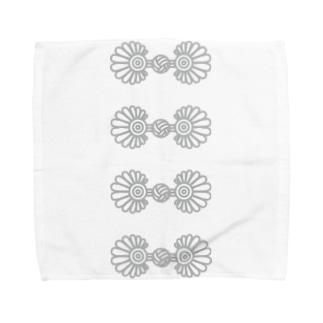 チャイナボタン風02  Towel handkerchiefs