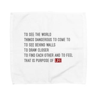 LIFE! 名言 Towel handkerchiefs