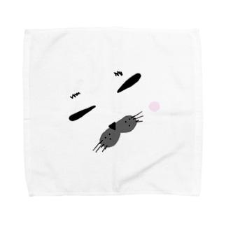 アザラシ ぎゅうぅぅ。 Towel handkerchiefs