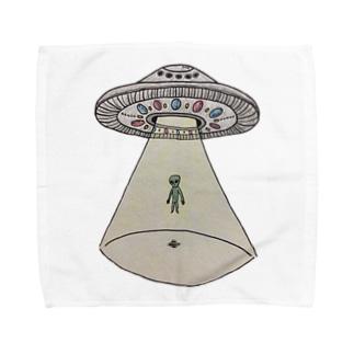 UFOから宇宙人 Towel Handkerchief
