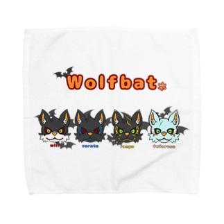 ウルフバットキャラ Towel handkerchiefs