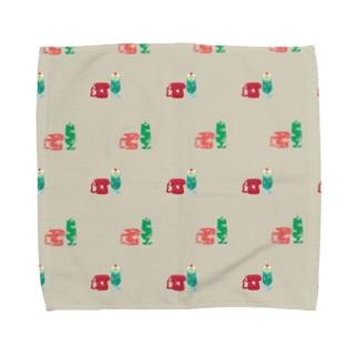 クリームソーダとダイヤル式でんわ Towel handkerchiefs