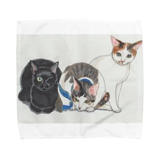 くろつぐ・むー・かわら Towel handkerchiefs