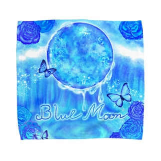 《Moonシリーズ》*Blue Moon* Towel handkerchiefs
