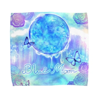 《Moonシリーズ》*Blue Moon*幻想カラーver. Towel handkerchiefs