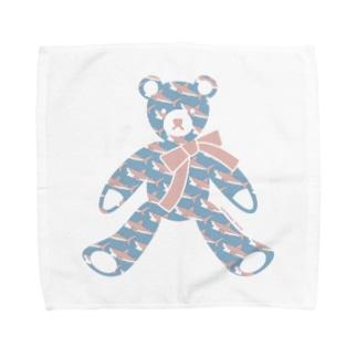 〈 #みんなSAME 009/365 〉テディベア好きのためのSAME Towel handkerchiefs