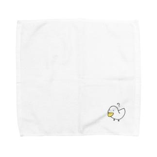 疑問符とアヒル Towel handkerchiefs