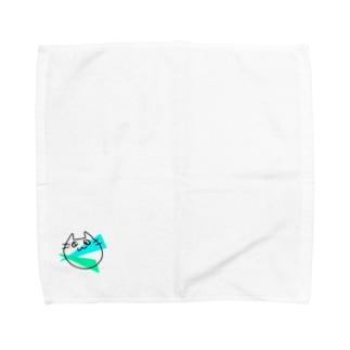 らくがきねこ Towel handkerchiefs