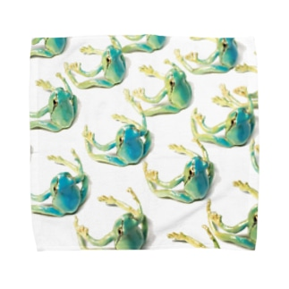 NINA Close Distance Amagaeru Blue Towel handkerchiefs