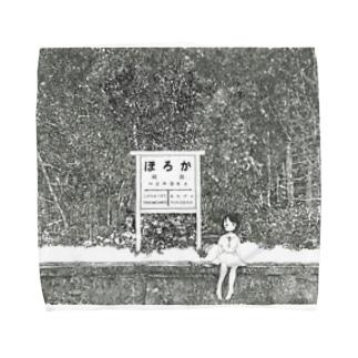 幌加駅 Towel handkerchiefs