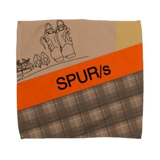 SPUR/s(チェック)タオルハンカチ Towel handkerchiefs