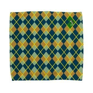 アーガイルちょろめ(GREEN) Towel Handkerchief