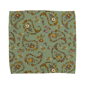 Jimmy Buffalo - Paisley Bee セージグリーン Towel handkerchiefs