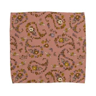 Jimmy Buffalo - Paisley Bee サーモンピンク Towel handkerchiefs