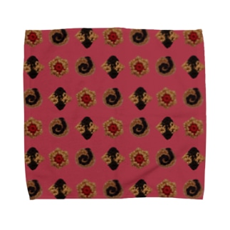 毛糸のミニクッキー パターン Towel handkerchiefs