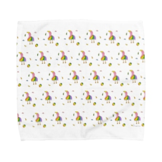 ゆる〜いバード Towel handkerchiefs