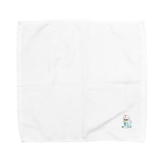 赤リボンの猫 Towel handkerchiefs