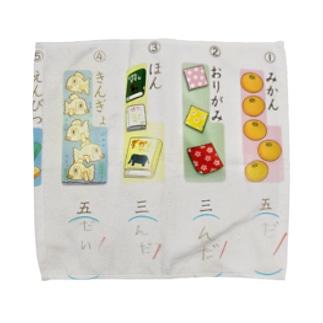 こくごのテスト Towel handkerchiefs