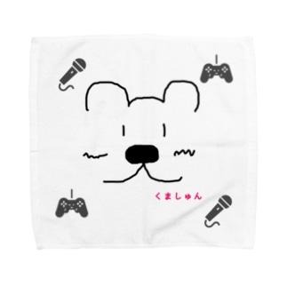 くましゅんハンカチ(Lサイズ推奨版) Towel handkerchiefs