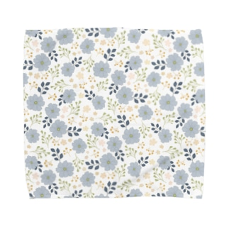 Blue Flower Towel handkerchiefs
