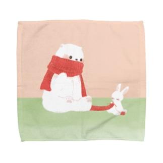 たかどのみこと🕊のしろくまさんとうさぎさん Towel handkerchiefs