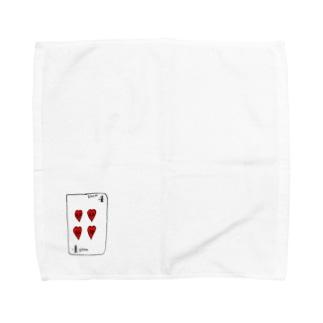ハートの4 Towel handkerchiefs