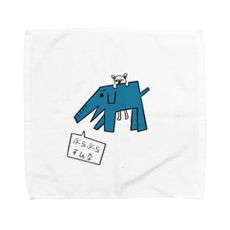 カクゾウさんと柿太郎 Towel handkerchiefs