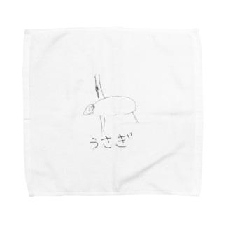 息子作 うさぎ Towel handkerchiefs
