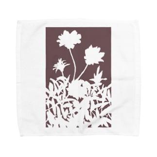 花咲く小径⑥あか Towel handkerchiefs