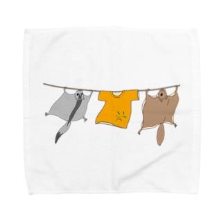 洗濯モモンガ Towel handkerchiefs