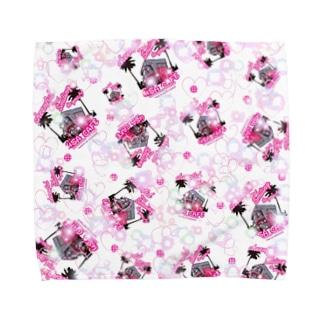 かわいいクレープ屋さん Towel handkerchiefs