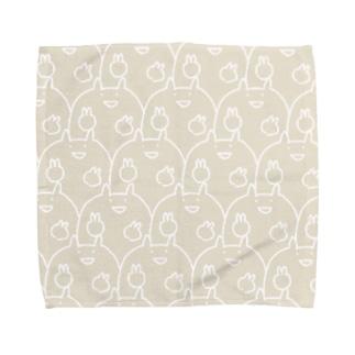 集合もろりねこ(砂カラー)  Towel handkerchiefs