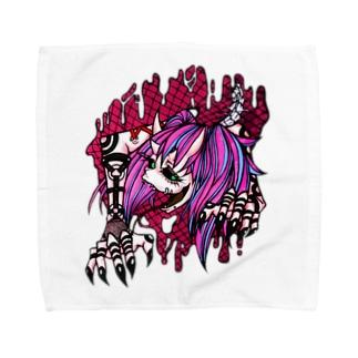 人外ちゃん はちゅタイプ B Towel handkerchiefs