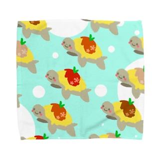 おむカメ3 Towel handkerchiefs