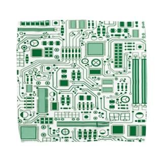基盤柄ハンドタオル Towel handkerchiefs