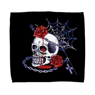 スカルローズ・タオルハンカチ Towel handkerchiefs