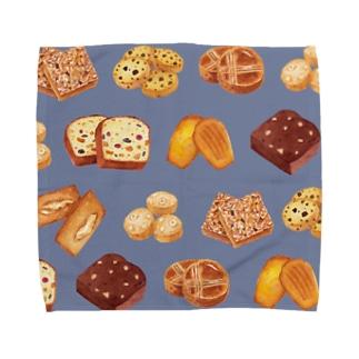 焼菓子タオル【ブルー】 Towel handkerchiefs