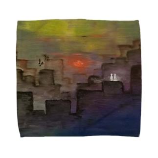 不確 Towel handkerchiefs