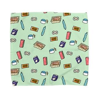 駄菓子の夢 dot. ミントカラー Towel handkerchiefs
