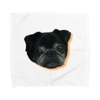 パグのダンボ&グッチ Towel handkerchiefs