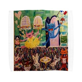 ピニーちゃんとプッカくん Towel handkerchiefs