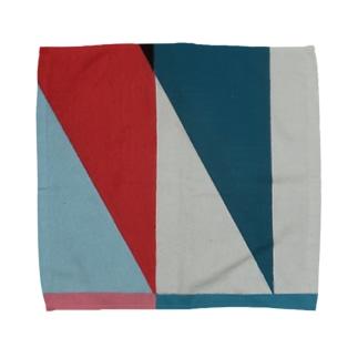 Geometric Letter series - Berry Mint 'M' Towel handkerchiefs