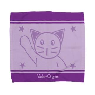 スタンプ柄 ねこ・ねこ丸 Towel handkerchiefs
