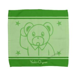 ヤシログラムショップのスタンプ柄 おにぎり・くまどん Towel Handkerchief