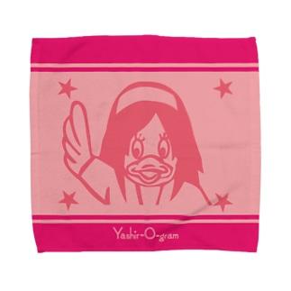 ヤシログラムショップのスタンプ柄 ピヨピィ Towel handkerchiefs