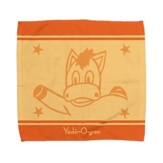 ヤシログラムショップのスタンプ柄 ロバーロ Towel Handkerchief