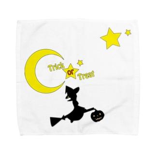 魔法使いのハロウィン Towel handkerchiefs
